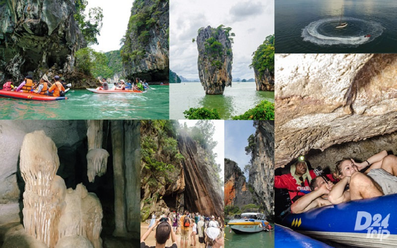 J. Bond + Canoe by Speedboat + Monkey Cave + Waterfall
